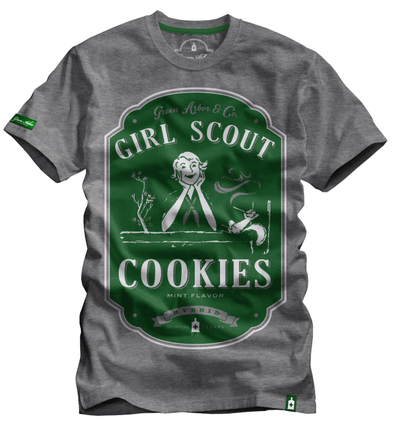 926af559d Girl Scout Cookies - Marijuana Strain T-Shirts, Cannabis Inspired ...