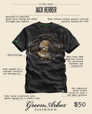 Jack Herrer Marijuana Inspired T shirts