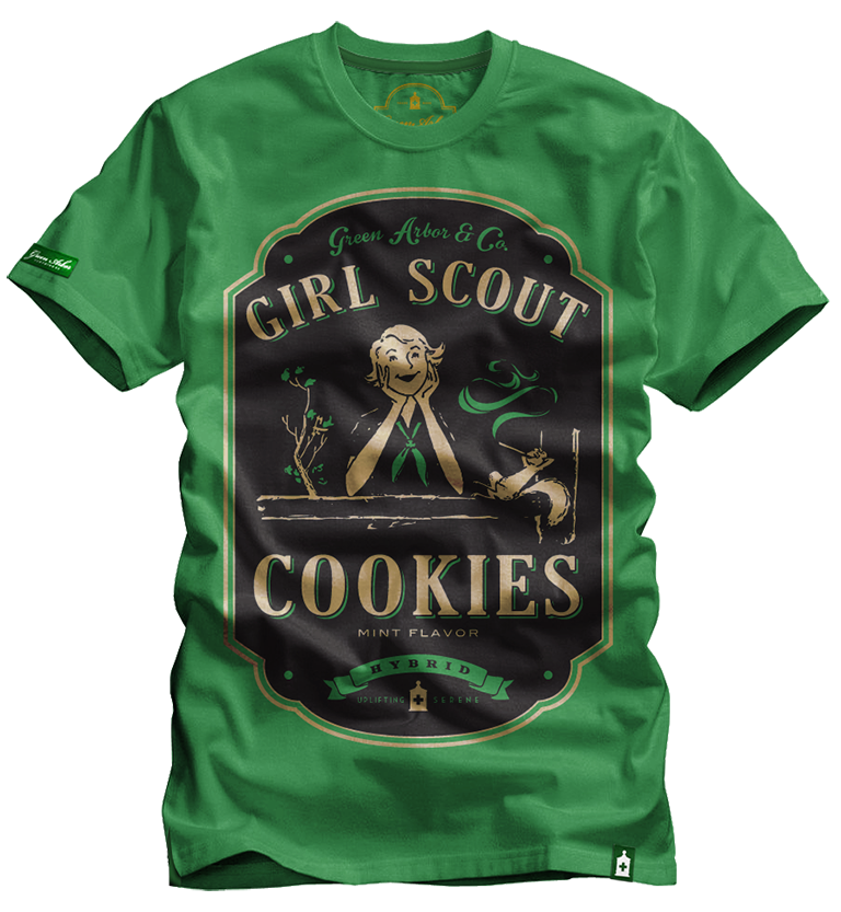 Girl scout Cookies green
